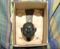 модель головы в подмодельнике
